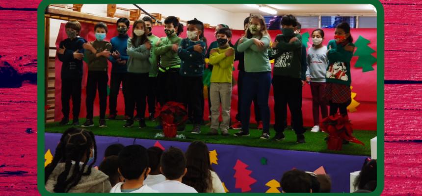 Concert, decoració i felicitació de l'equip de l'Escola Gayarre